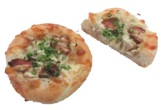 パン屋さんのピザ(甘辛生姜焼き)